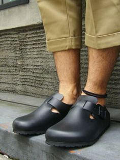 "BIRKENSTOCK [ビルケンシュトック] ""LONDON BLACK LEATHER""-Jalana"