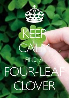 keep calm find a four-leaf clover / Created with Keep Calm and Carry On for iOS #keepcalm #fourleafclover #lucky