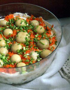 Sałatka warstwowa | 365 dni dookoła kuchni. Polish Recipes, Polish Food, Potato Salad, Potatoes, Cooking, Ethnic Recipes, Salads, Kitchen, Polish Food Recipes