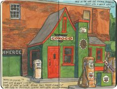 She's been Drawing her Road Trips in Sketchbooks for 20 Years