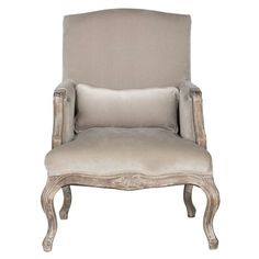Velvet Armchair in Grey - Casafina