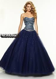 Navy makes this dress shine Morilee