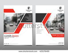 Red technology annual report brochure flyer design template vector, Leaflet cover presentation abstract geometric background, layout in A4 size