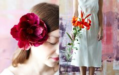 The Green Vase / Styling- she makes paper flowers