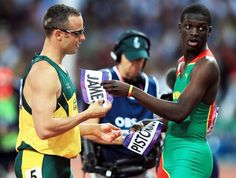 Pistorius e Kirani James @ #Olympic Games #London2012. Great moment.