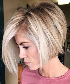 50 Stylish Layered Bob Hairstyles Messy Bob With Stacked V-Cut Layers ❤ Check out these stylish layered bob hairstyles for a daring and bold new look. Ideal for those who are tired of boring and unmanageable hair. Layered Bob Hairstyles, Straight Hairstyles, Hairstyles Haircuts, Medium Hairstyles, Wedding Hairstyles, Elegant Hairstyles, Braided Hairstyles, Celebrity Hairstyles, Short Summer Hairstyles