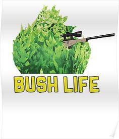 fortnite gamer bush life camper poster boys game room room posters art for kids - fortnite bush transparent background