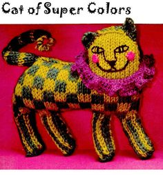 "KinsieWoolShop , Vintage Knitting / Knitted 60s ""ARISTOCATZ"" Cat Doll - PDF Pattern"