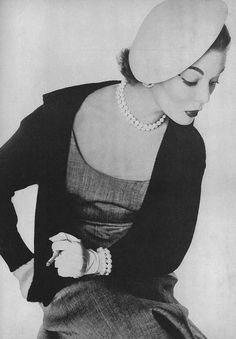 April Vogue 1952    Photographed by Irving Penn.