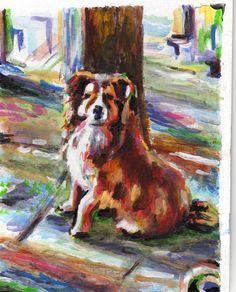 a szomszéd kutyája2 karton, akril