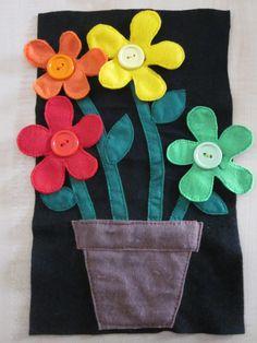 Flower quiet book page