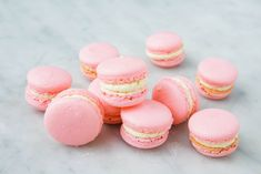 Easy French Macarons - Recipes to Cook - Macaron Classic French Desserts, French Dessert Recipes, French Sweets, French Deserts, French Recipes, French Food, Biscuits Roses, Cookies Et Biscuits, Baking Cookies