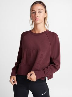 e14cb0b2d8 Cropped embossed-logo sweater