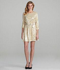 Cremieux Midnight SequinStripe Dress #Dillards (awful pic...looks amaze on)