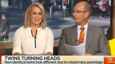 Sam Armytage upset by race bias suggestions, even though it earned her a sideways glance from David Koch. Mixed Race, Identical Twins, Morning Show, Sunrise, Interview, Presents, Racing, Cow, David