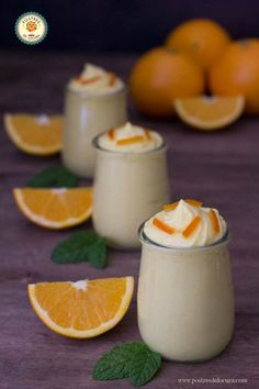 Vasitos de mousse de naranja Quiches, Ceviche, Cake Pops, I Foods, Gourmet Recipes, Tapas, Catering, Panna Cotta, Healthy Eating