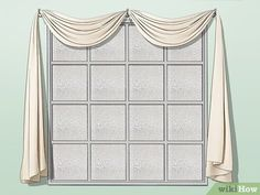 How to Drape Window Scarves. A window scarf, smartly hung, can highlight an entire room. Use a window scarf to cover up a curtain rod, or install scarf hooks to hang a window. Hanging Drapes, Canopy Bed Curtains, Wall Drapes, Scarf Curtains, Drapes Curtains, Curtains Living, Bedroom Drapes, Valances, Drapery
