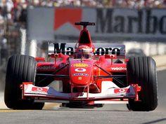 2002 F1 WC Michael Schumacher on his Ferrari F2002