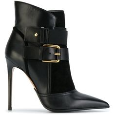 f36e90c08b7 Balmain Anais Leather Ankle Boots (£878) ❤ liked on Polyvore featuring shoes