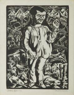 Tadeusz Kulisiewicz - Józuś Brzana, 1931, drzeworyt