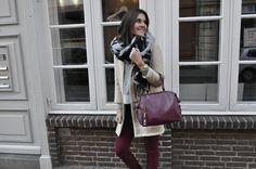 FAITH in bordeaux. Matching is on point. #beliya #ecofashion #handbag