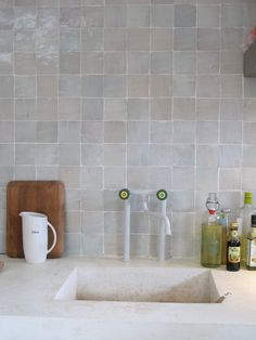These amazing Zellige Tiles are handmade in Morocco. We produce them in a range of shape. Guest Bathrooms, Attic Bathroom, Bathroom Kids, Laundry In Bathroom, Modern Bathroom, Small Bathroom, Bathroom Things, Bathroom Plants, Design Bathroom