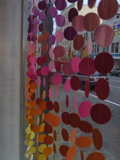 paper chain - you could do this with construction paper, card stock or double layer tissue paper