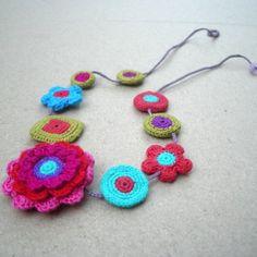 Sybella Crochet Motifs Necklace by gitte on Etsy, $105.00