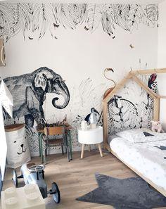 536 meilleures images du tableau Papier peint • Chambre enfant en ...