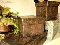 Raw Hide-Faux Leather Storage box with lid-StowandTellU
