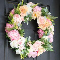 DIY Tutorial on how to create this stunning silk flower wreath!