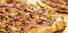 Caramelized Onion Tart with Swiss and Bacon – holiday appetizer recipe from ALDI.