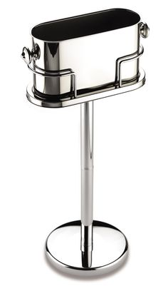 Stainless steel oval champagne cooler