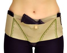 The BigSheBang! Concealed Carry Gun Holster for Ladies!; Tan with Kiwi Accents