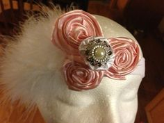 Vintage Triple Rose with Bling Center on Etsy, $12.00