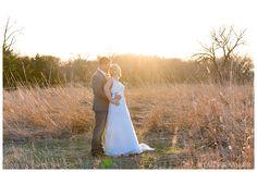 Bride and Groom Portraits, Nebraska Sunset.