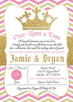 Little princess baby shower invitation pink by sweetsimplysouthern pink and gold princess baby shower by simplykayleedesigns on etsy filmwisefo