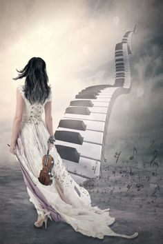 Music can be a stairway to heaven on We Heart It Arte Do Piano, Piano Art, Stairway To Heaven, Music Lovers, Belle Photo, Music Is Life, Love Art, Art Pictures, Fantasy Art