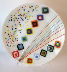 Fused glass Slumped into a Bottomless Mold Made by laurie Spray.    Available at http://BopnnyDoonFusedGlassTools.com