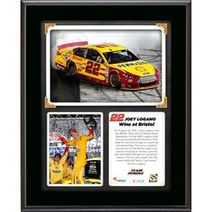Joey Logano Fanatics Authentic 2015 IRWIN Tools 500 at Bristol Motor Speedway Race Winner 10.5'' x 13'' Sublimated Plaque Collage - $23.99