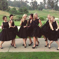 Little Black Party Dress Vintage Black Hepburn Dresses Short Party Dresses 1950'S Dresses Bateau Neckline Tea Length Dresses Cap Sleeves A Line Bridesmaid Dresses Party Dresses Girls From Graceful_ladies, $84.56| Dhgate.Com