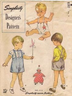 Amazon.com: Simplicity 8292 Vintage Sewing Pattern Toddler Boys Shirt Sunsuit Size 2: Home & Kitchen