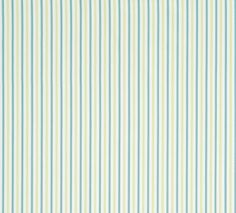 A simple multipurpose #fabric, Resort Ticking features classic pinstripes on 100% cotton. Featured here in #turquoise and #green from the Resort collection. #Thibaut