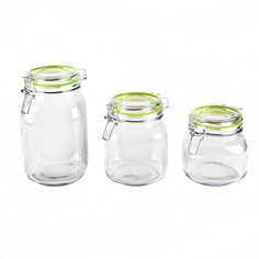Housewares International Blue Harbor 3-Piece Glass Jar Set * To view further for this item, visit the image link.