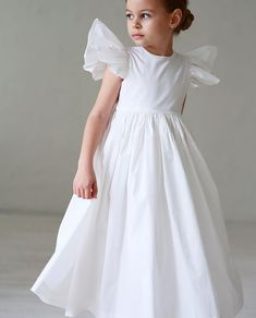 First communion dress Girls pink dress Girls white dress Frocks For Girls, Little Girl Dresses, Girls Dresses, Pageant Dresses, Party Dresses, Girls White Dress, Pink Dress, Girls Communion Dresses, Cute Outfits For Kids