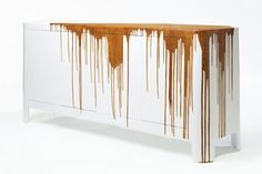 Drips and splatters have become a recent trend in aesthetics, but contemporary designer Damien Gernay takes it to the next level by creating pieces with dripping texture. Beginning with what he cal...