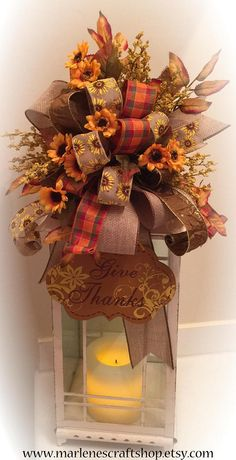 Thanksgiving lantern Swag Sunflower Swag Sunflower Lantern