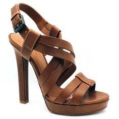 "Bottega Veneta ""307943"" Brown Leather Strappy Platform Sandal | Shirise.com"