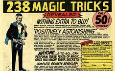 positively astonishing! Great vintage magic trick card seen on learnmagicguide.com