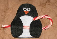 Penguin Candy Cane Holder